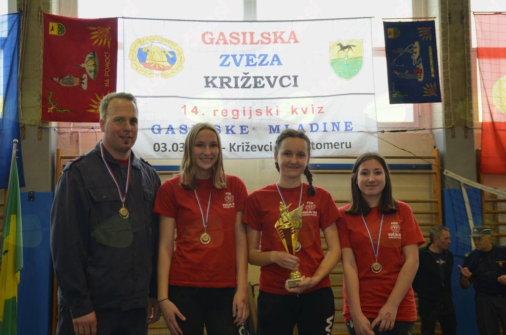 Gasilska mladina GZ Križevci potrdila primat najboljših v Pomurski regiji