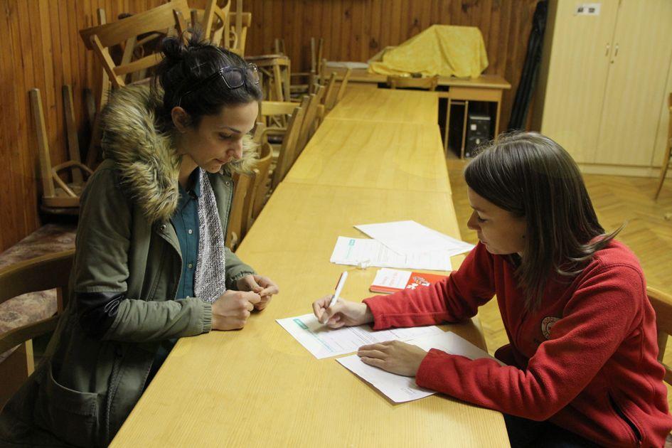 Podpis pristopne izjave darovalca organov po smrti v Notranjih Goricah.