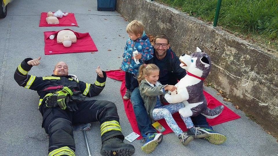 Vaja evakuacije vrtca v Preserju.