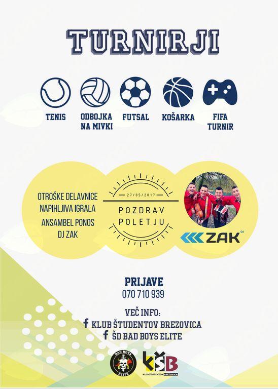 Športfest 2017 & Pozdrav poletju z Ansamblom Ponos ter DJ Zak
