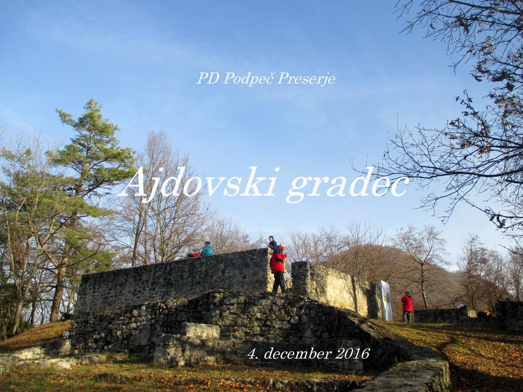 FOTOREPORTAŽA: Izlet PD Podpeč Preserje na Ajdovski gradec  4. 12. 2016