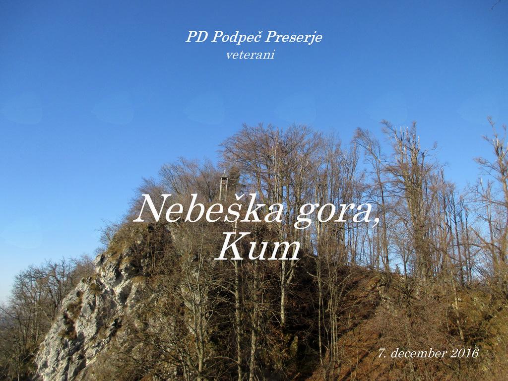 FOTOREPORTAŽA: Izlet veteranov PD Podpeč Preserje na Nebeško goro in Kum 7. 12. 2016
