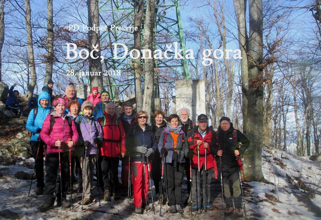FOTOREPORTAŽA : PD Podpeč Preserje na Boču in Donački gori 28.1.2018
