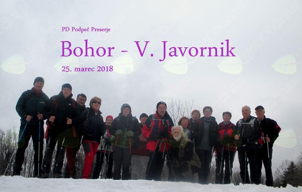 FOTOREPORTAŽA : PD Podpeč Preserje na Bohorju 25.3.2018