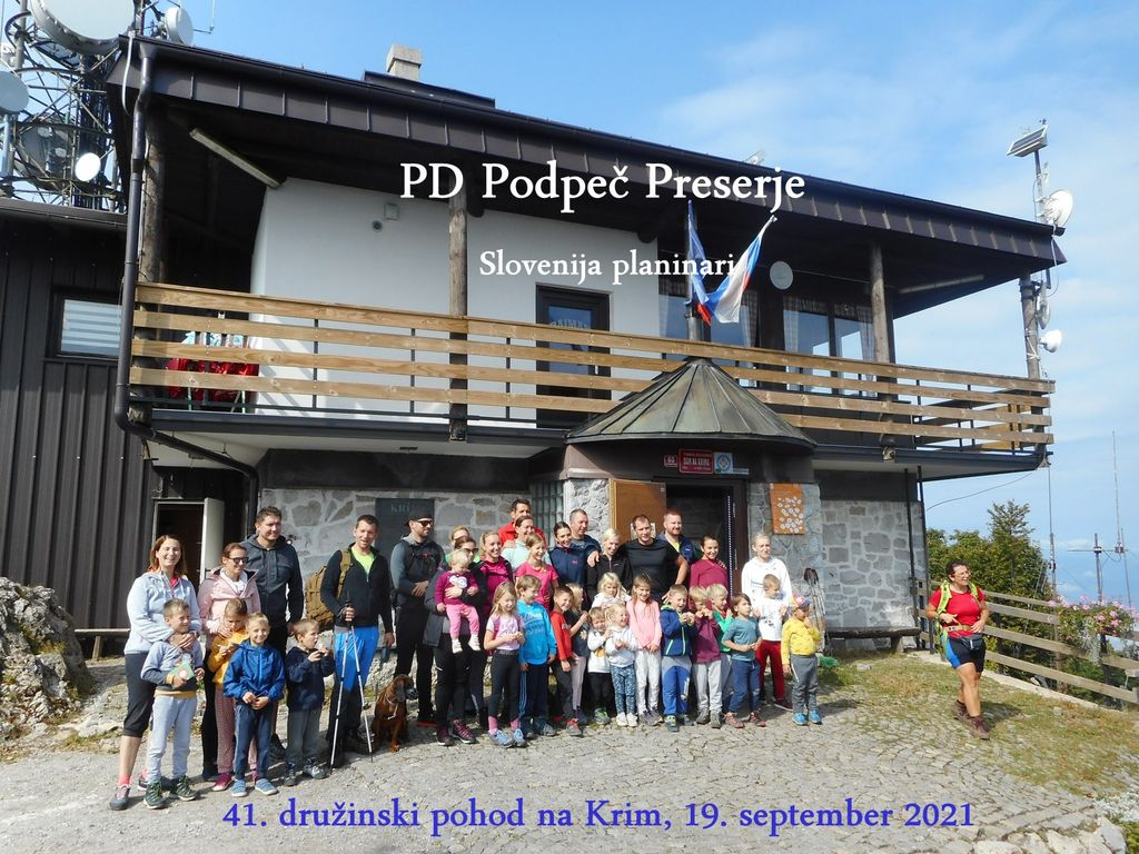 PD Podpeč Preserje  - 41. tradicionalni družinski pohod na Krim, 19.9.2021