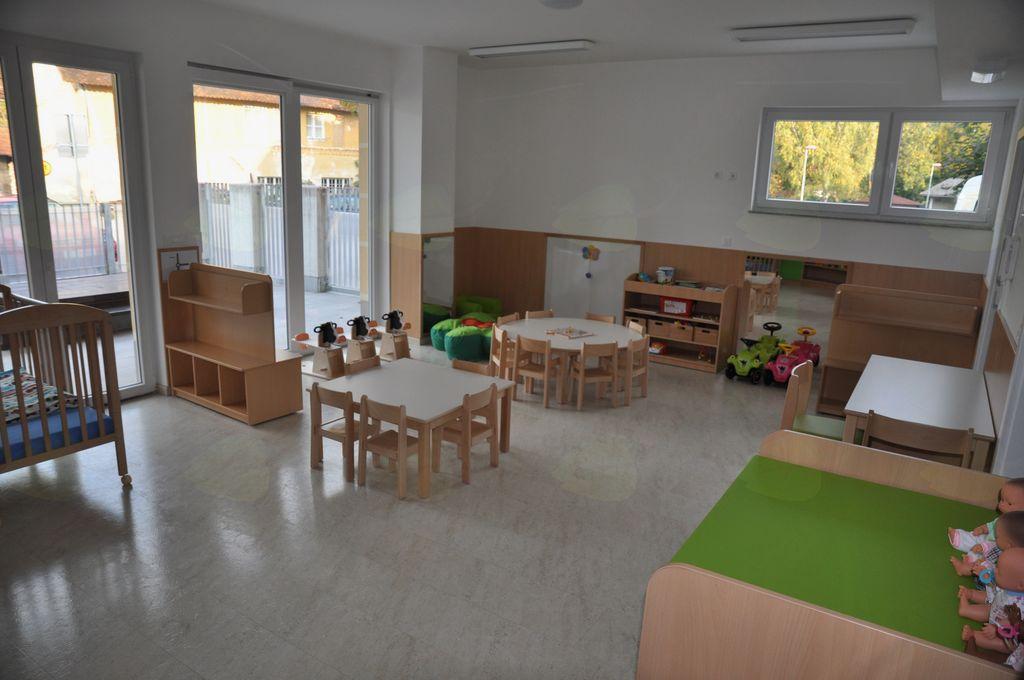Igralnica za novo skupino otrok v oddelku Oblaček