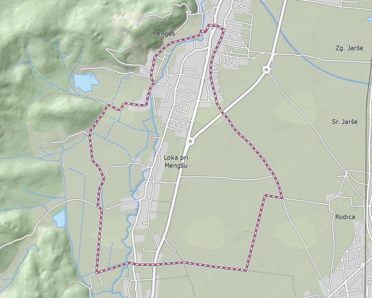 Krožna kolesaeska pot v občini Mengeš (vir:www.kolopot.com).