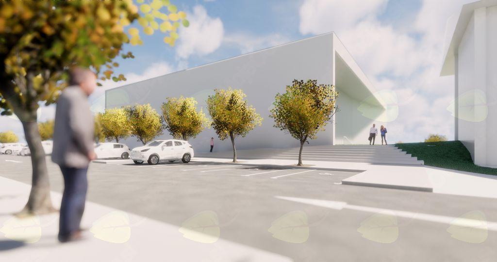 Večnamenska športna dvorana Mengeš bo s šolo povezana s podzemnim hodnikom