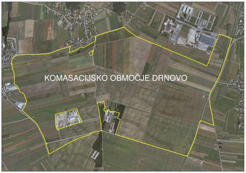 Komasacija kmetijskih zemljišč na območju Drnovo