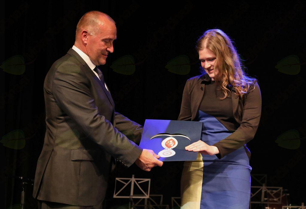 Maja Keržič je Trdinovo nagrado prejela za samostojno raziskovalno delo z naslovom Poimenovanja za sadje v mengeškem govoru, ki je nastalo po zaključku študija prve stopnje na slovenistiki.