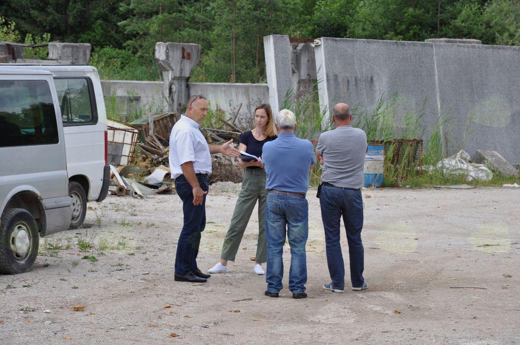 Območje so si na pobudo župan Franc Jerič skupaj ogledali predstavniki lastnika in najemnika zemljišča