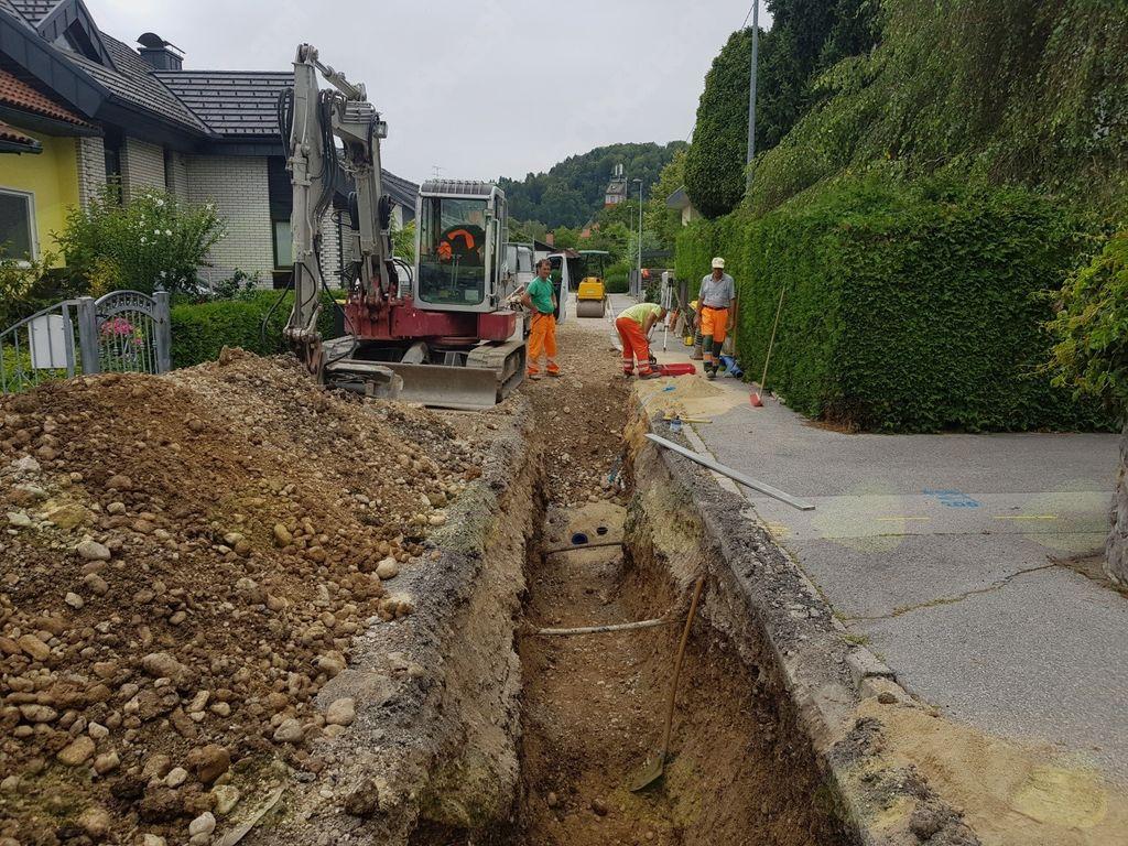 Rekonstrukcija vodov in cestišč v občini Mengeš se nadaljuje na Šolski, Šubičevi in Janševi ulici
