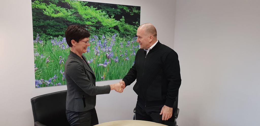 Mag. Vesna Črnilogar z županom Občine Mengeš Francem Jeričem