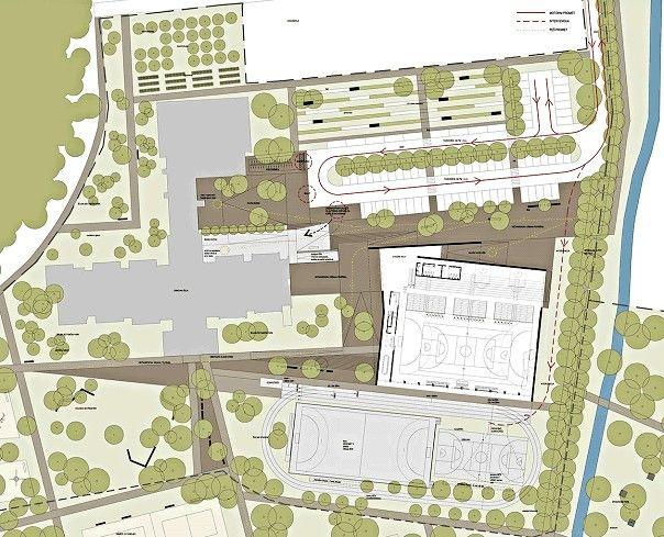 Prikaz lokacije športne dvorane in okolice Športne dvorane Mengeš