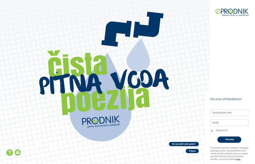 JKP Prodnik z novim letom ponovno obvešča o možnosti uporabe portala eProdnik, ki omogoča enostaven, časovno prilagojen pregled nad komunalnimi storitvami.