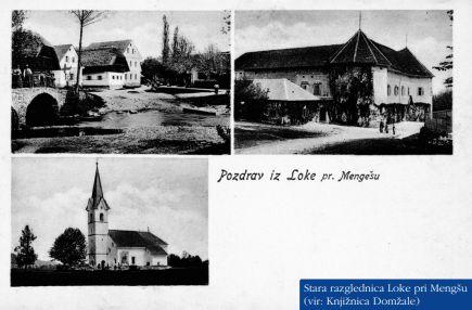 Stara razglednica Loke_vir_Kako se pa pri vas reče