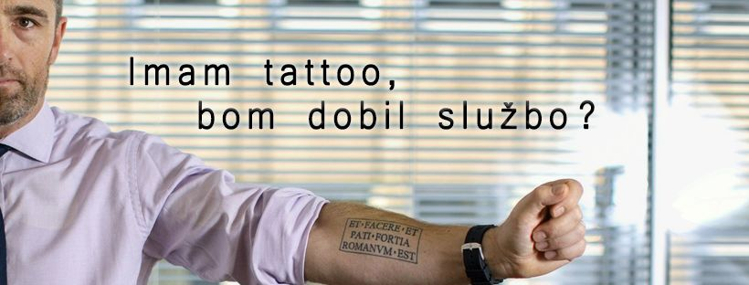 Predavanje o tetoviranju, zaposlitvi in zaslužku