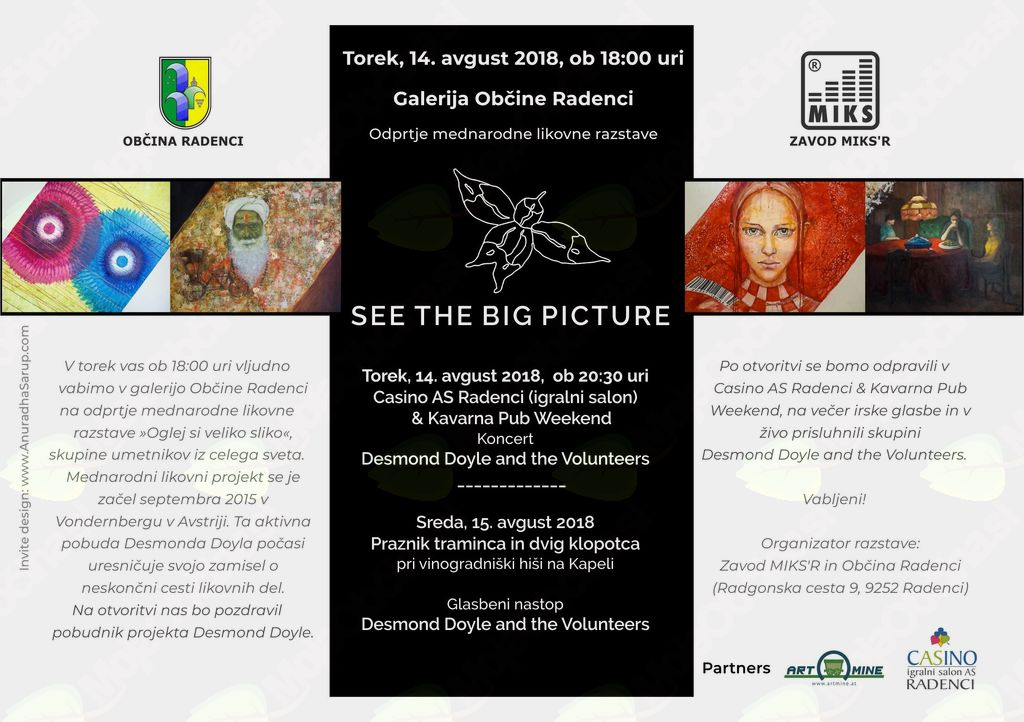 SEE THE BIG PICTURE - razstava in koncerti Desmond Doyle and the Volunteers