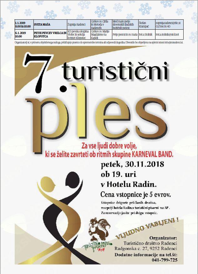 7. dobrodelni turistični ples in 1.1. - 6.1.2019