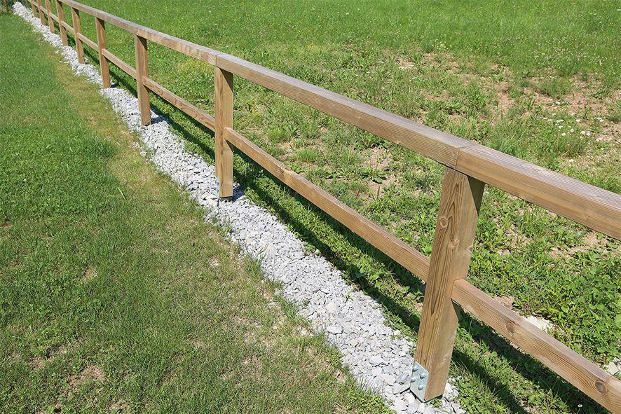 Pozneje: odprta parcelna ograda.