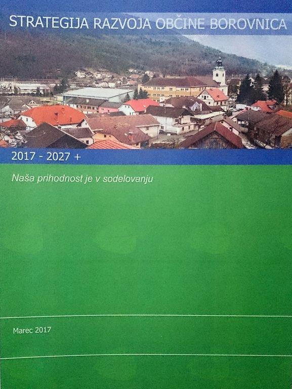 Naslovnica Razvojne strategije Občine Borovnica 2017–2027+