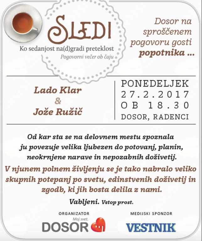 Sledi - Lado Klar & Jože Ružič