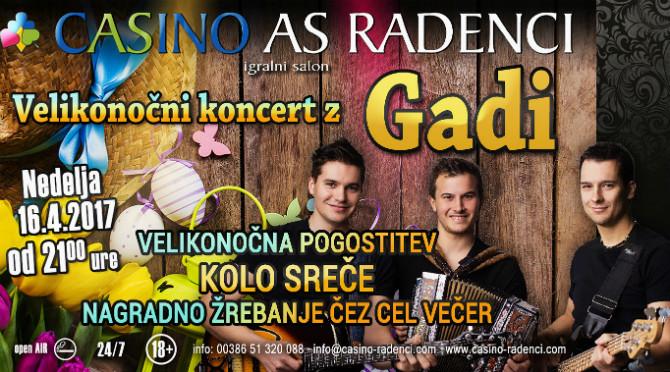 Velikonočni koncert z glasbeno skupino Gadi
