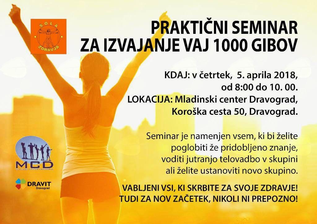 Šola zdravja - brezplačna jutranja telovadba 1000 Gibov