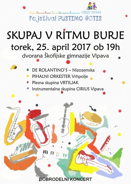 Dobrodelni koncert SKUPAJ V RITMU BURJE