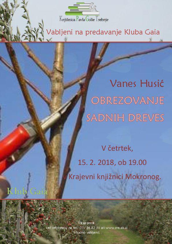 Predavanje o obrezovanju sadnega drevja