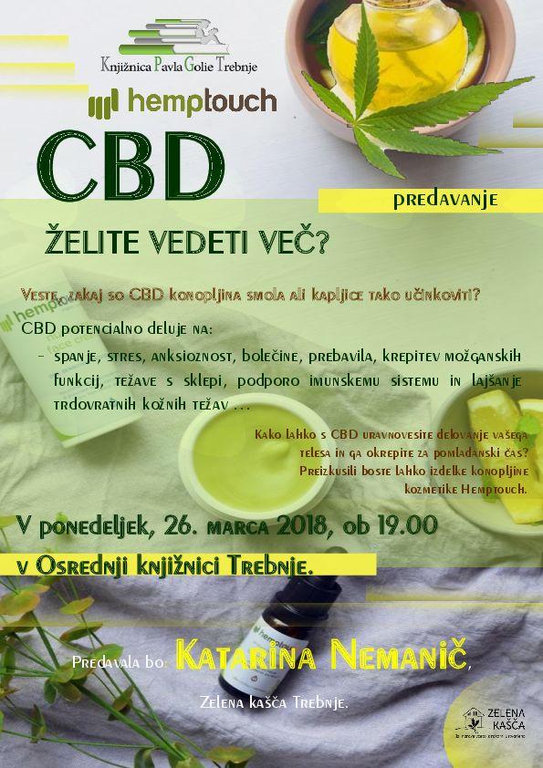 CBD - želite vedeti več?