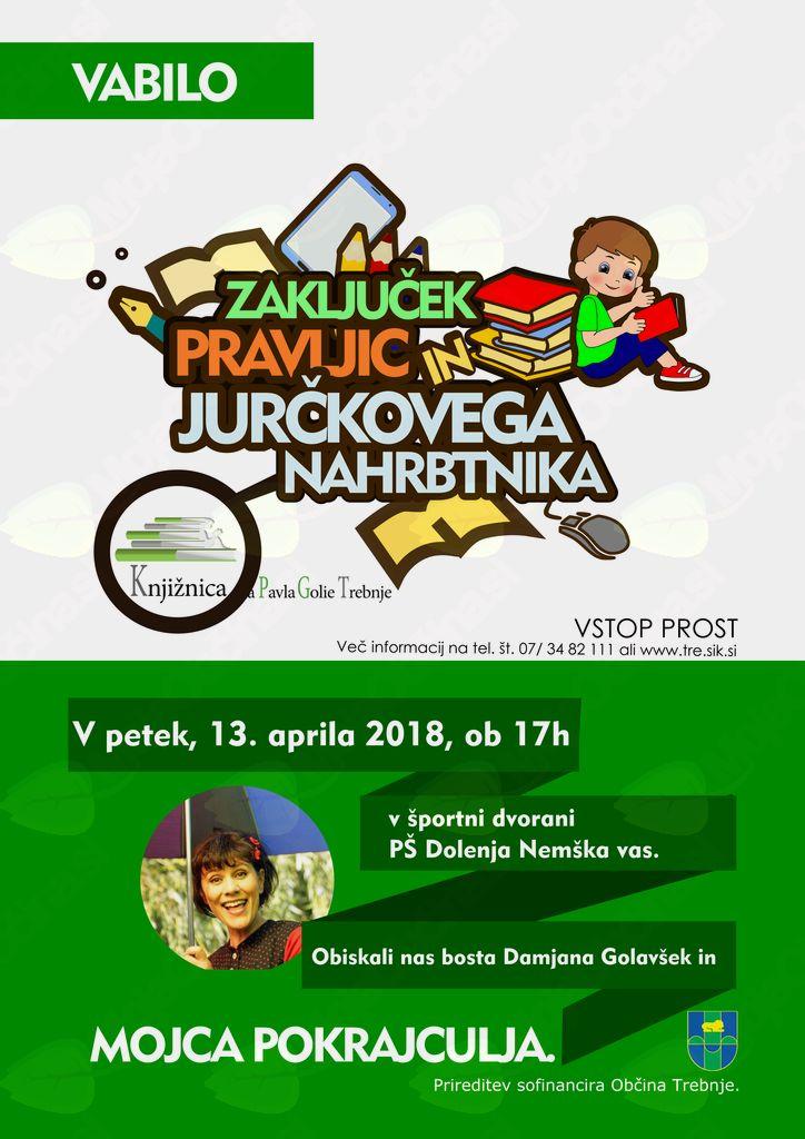 Zaključek Jurčkovega nahrbtnika in pravljičnih uric Knjižnice Pavla Golie Trebnje