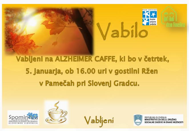 Alzheimer cafe v gostilni Ržen v Pamečah pri Slovenj Gradcu