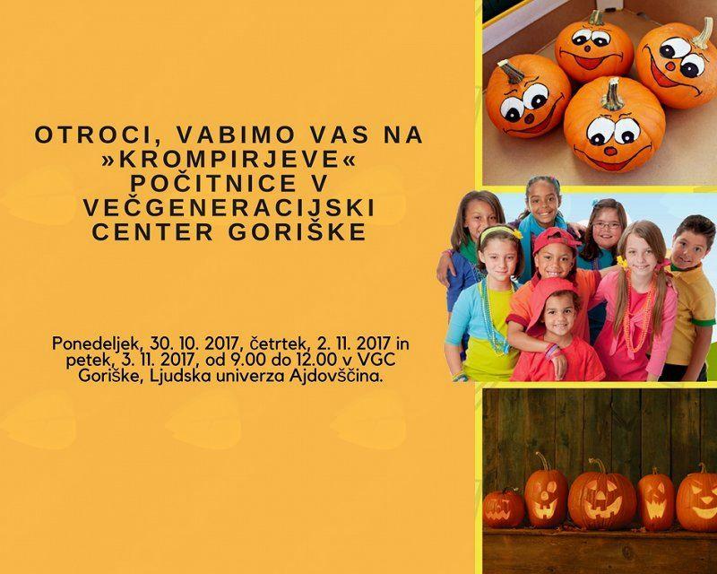 Krompirjeve počitnice v Večgeneracijskem centru Goriške
