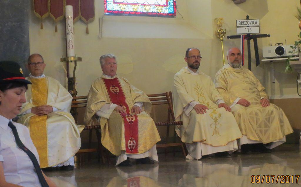 Kanonik France Dular, profesor Rafko Valenčič, Simon Kvaternik in dekan Klavdio Peterca