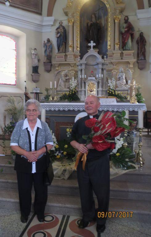 Zlatomašnik Marijan Peklaj in njegova sestra Mati Obrstar