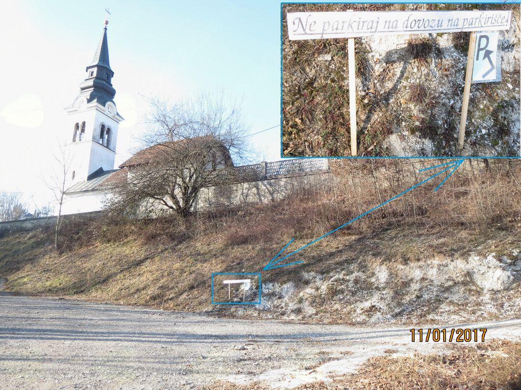 Pobuda za ureditev začasnega parkirišča na Gulču v Vnanjih Goricah