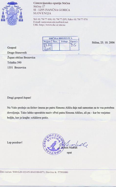 Peš iz Brezovice na Dobrovo
