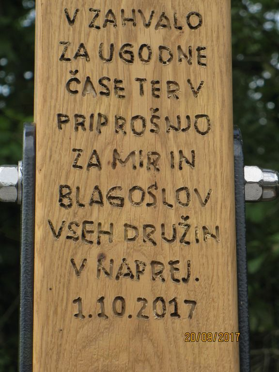 Blagoslov novega Ižancovega križa v Vnanjih Goricah, na Novi Poti