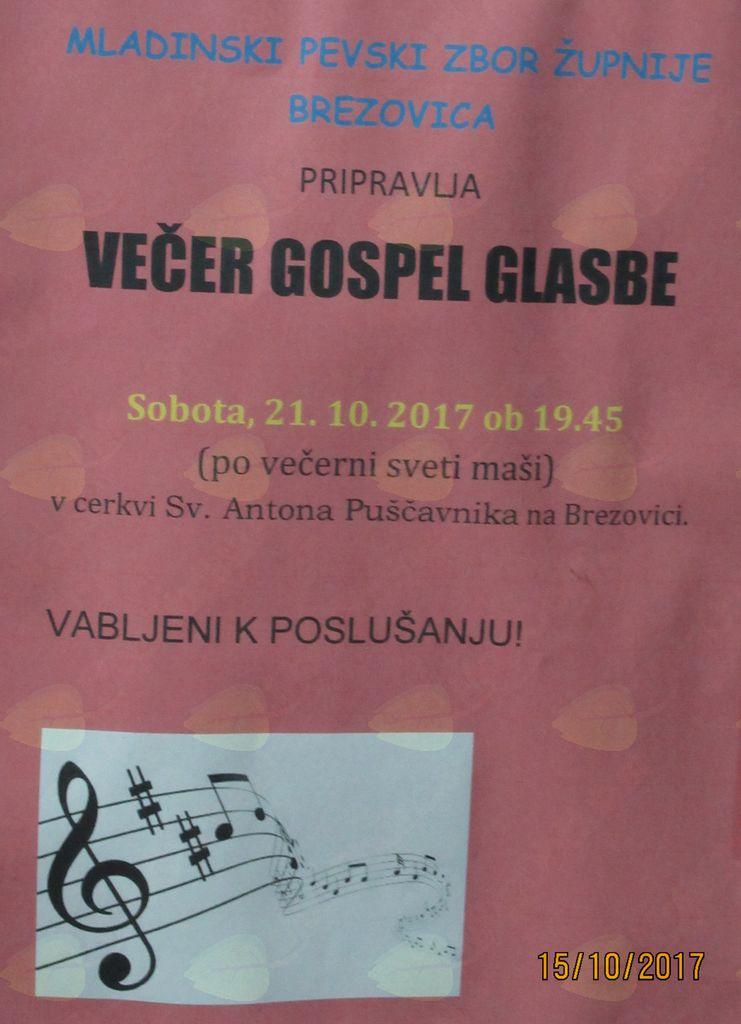 Večer Gospel glasbe na Brezovici