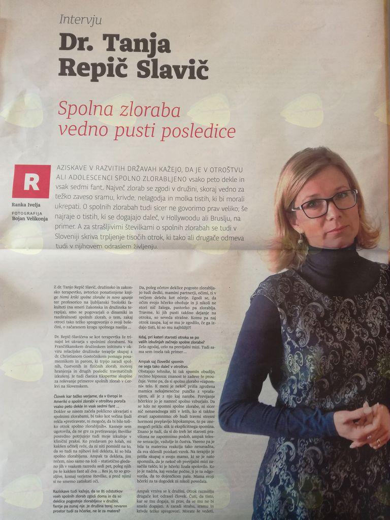 Intervju v Dnevniku 5.11.2017.