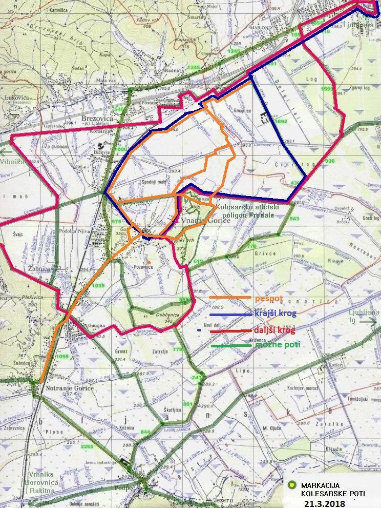 Predlagane možnosti med Ljubljano, Brezovico, Dragomerjem, Vnanjimi in Notranjimi Goricami.