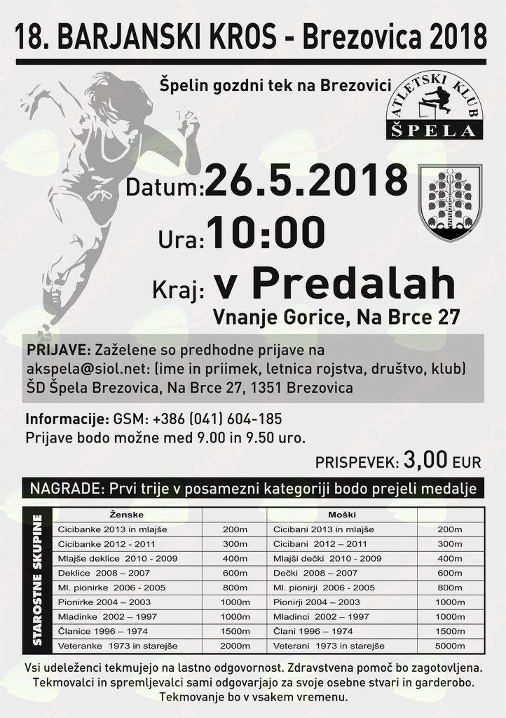 Gozni tek na Poligonu Predale 26.5.2018
