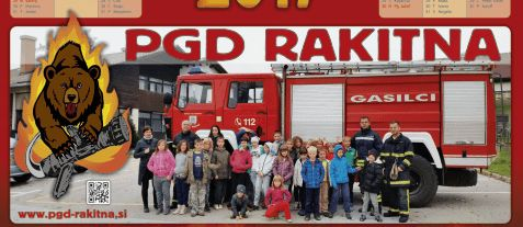 Tudi gasilke in gasilci PGD Rakitna ga imajo v svojem grbu.