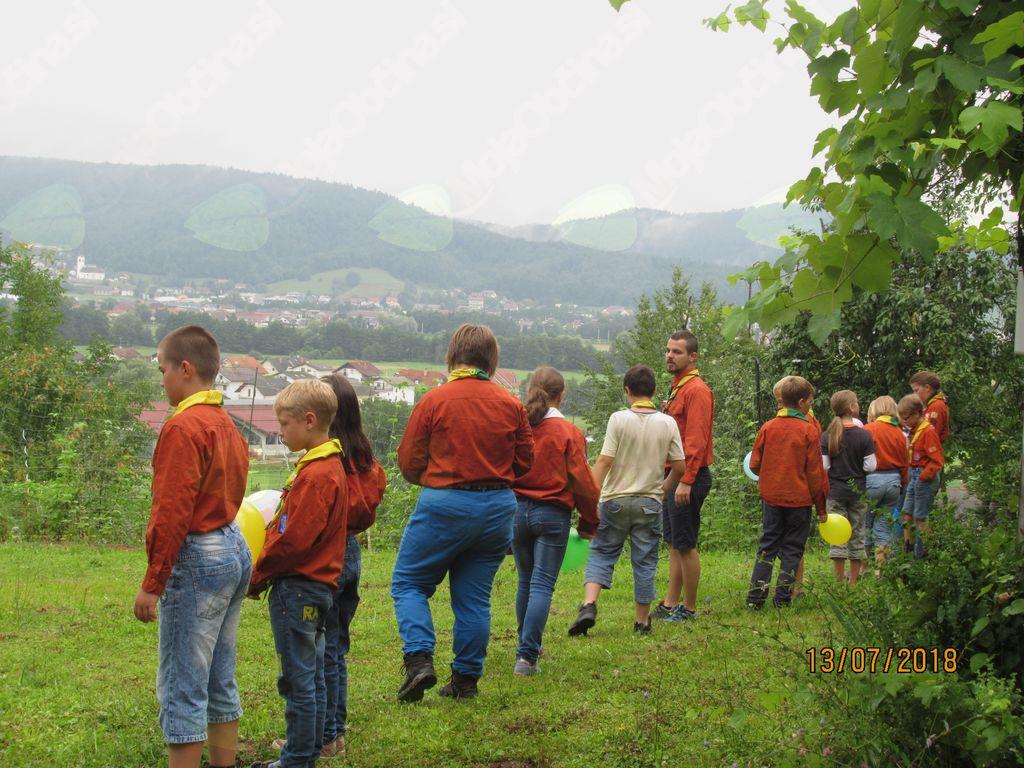 Grajski zamorci pri Ašičevem centru, s pogledom na Brezovico.