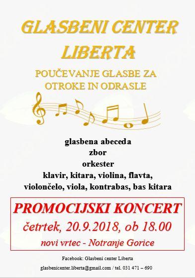 Promocijski koncert v novem vrtcu v Notranjih Goricah