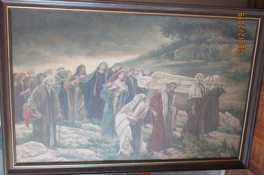 Zelo redko upodobljen Jezusov pogreb