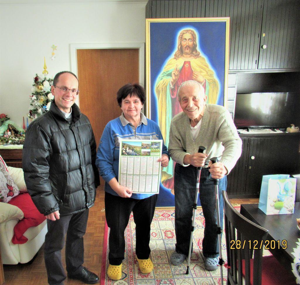 Prejemnik Jožef ter Ani in slikar samouk Ivan