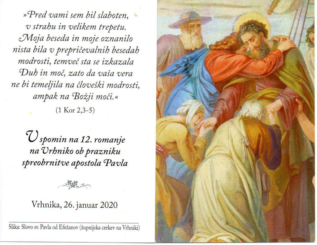 12. tradicionalno peš romanje k Pavlu na Vrhniko
