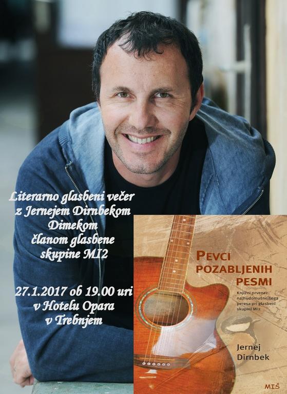Literarno glasbeni večer z Jernejem Dirnbekom Dimekom, članom skupine MI2